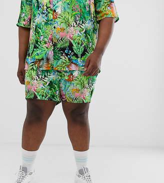 Asos (エイソス) - Asos Design Disney The Lion King x ASOS DESIGN Plus shorts two-piece in jungle print