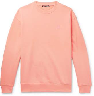 Acne Studios Forba Logo-Appliquéd Loopback Cotton-Jersey Sweatshirt