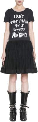 Moschino Cotton And Tulle Dress