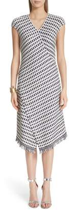 St. John Thatched Grid Knit Dress