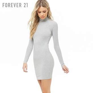 Forever 21 (フォーエバー 21) - Forever 21 タートルネックタイトミニワンピース