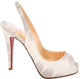 Christian Louboutin Python heels