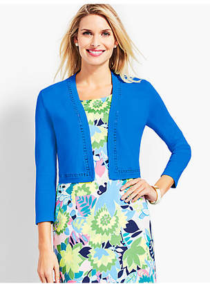 Talbots Lace-Trim Dress Shrug