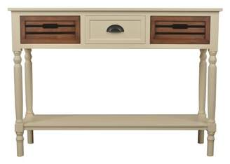 Decor Therapy 3-Drawer Console, White Honeynut