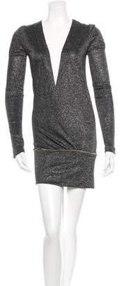By Malene Birger Metallic Long Sleeve Dress