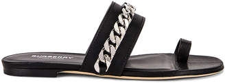 Burberry Heidi Chain Sandals in Black | FWRD