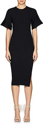 Lanvin Women's Rib-Knit Wool-Blend Midi-Dress - Navy
