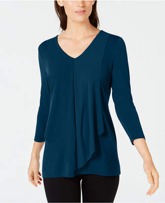 Alfani Petite Draped Layered-Look Top