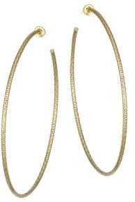 Jennifer Zeuner Jewelry Donnie Goldplated Large Hoop Earrings
