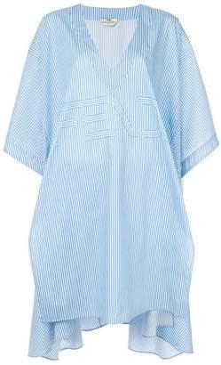 Fendi striped asymmetrical blouse