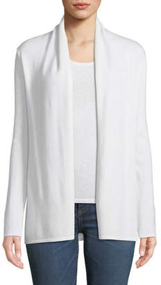 Neiman Marcus Cashmere Modern Open-Front Cardigan