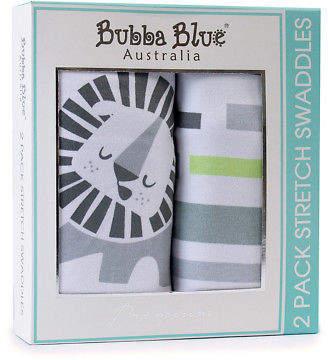 NEW Bubba Blue Boy Zoofari 2pk Stretch Swaddle