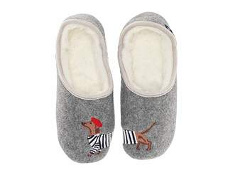 Joules Slip-On Felt Mule Slippers