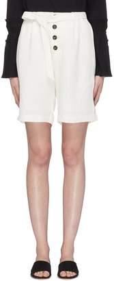 Short Sentence Belted button twill Bermuda shorts