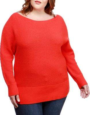 Lucky Brand Plus Off-the-Shoulder Sweater