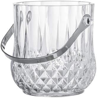 Bloomingville - Art Deco Textured Glass Ice Bucket With Handle