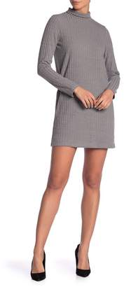 Kensie Solid Rib Knit Sweater Dress