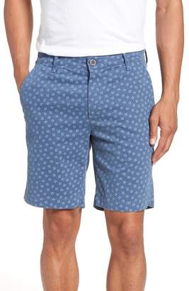 AG Jeans Flora Print Slim Fit Shorts