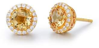 Lafonn 18K Gold Vermeil Simulated Diamond & Pave Canary Stud Earrings