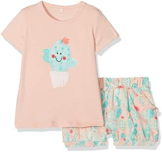 Name It Baby Girls' Nbfdelisa Ss Top Shortset Clothing Set