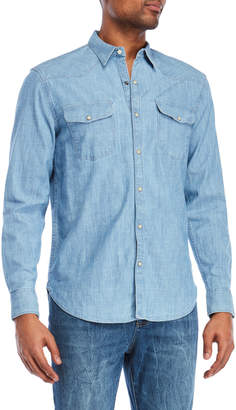 Lucky Brand Two-Pocket Chambray Shirt