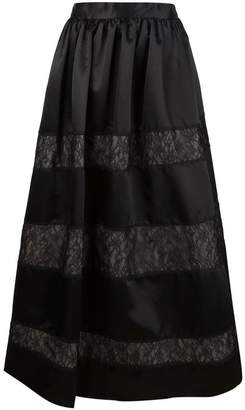 Alice + Olivia Alice+Olivia lace panelled maxi-skirt