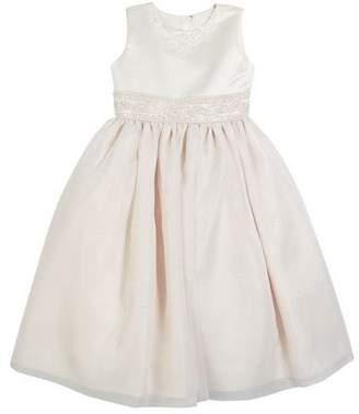 Joan Calabrese Satin & Organza Beaded Dress, Size 2-14