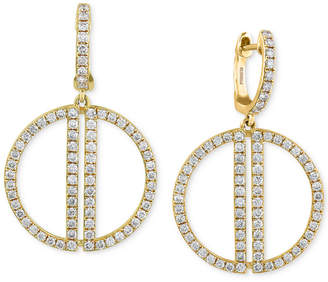 20b363c78c at Macy s · Effy D Oro by Diamond Open Circle Drop Earrings (3 4 ct.