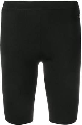 Roberto Cavalli logo plaque cycling shorts