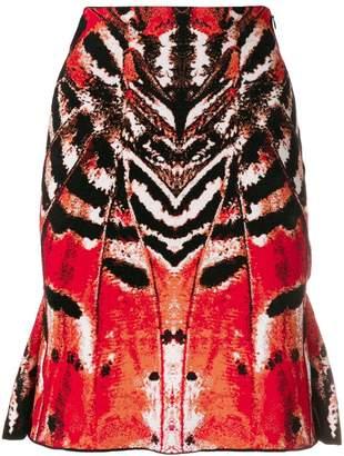 Alexander McQueen printed straight skirt