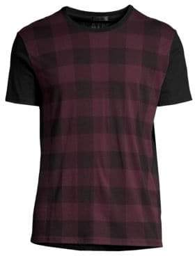 ATM Anthony Thomas Melillo Plaid Front Tee