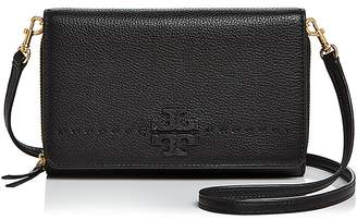 Tory Burch McGraw Flat Leather Wallet Crossbody