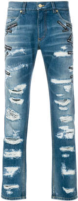 Dolce & Gabbana destroyed logo jeans