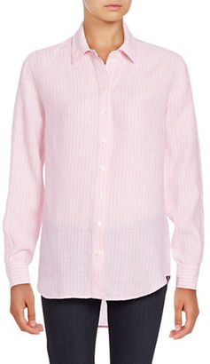Lord & Taylor Long Sleeve Striped Shirt $68 thestylecure.com