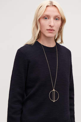 Cos LONG CIRCLE PENDANT NECKLACE