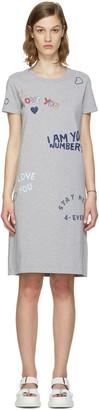 Kenzo Grey Valentines Text Dress $215 thestylecure.com