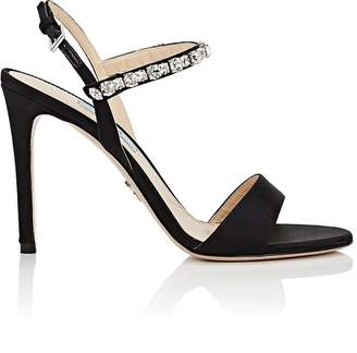 Prada Women's Crystal-Embellished Ankle-Strap Sandals