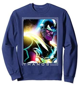 Marvel Thanos Neon Glow Paint Splat Graphic Sweatshirt