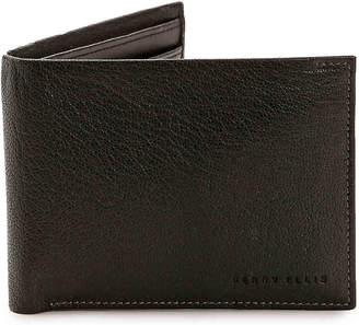 Perry Ellis Pebble Passcase Leather Bifold Wallet - Men's