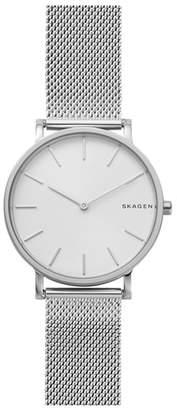 Skagen Hagen Slim Mesh Strap Watch, 38mm
