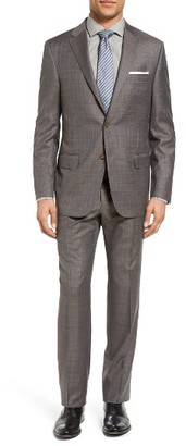 Men's Hickey Freeman Beacon Classic Fit Plaid Wool Suit $1,695 thestylecure.com