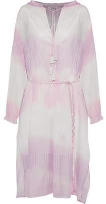 Lemlem Tie-Dyed Striped Cotton-Gauze Dress