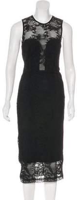 Nicole Miller Lace Midi Dress