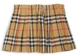 Burberry Girl's Tartan A-Line Skirt