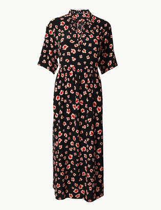 Marks and Spencer Floral Print Relaxed Midi Dress