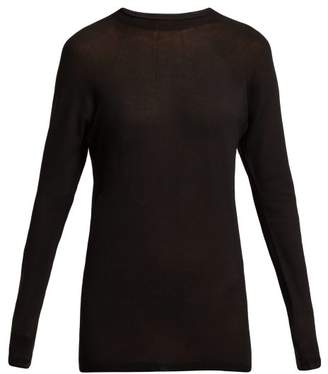 Lemaire Fine Knit Sweater - Womens - Black