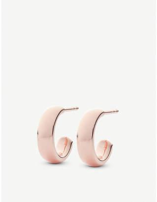 Monica Vinader Fiji mini 18ct rose-gold vermeil hoop earrings