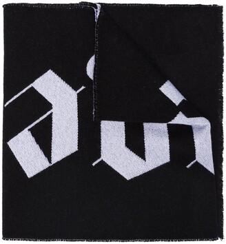 Palm Angels logo intarsia knit scarf