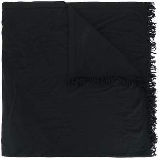 Rick Owens fringed-hem scarf