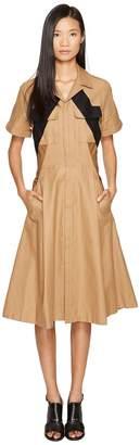 Neil Barrett Modernist Military Cotton Shirtdress Women's Dress